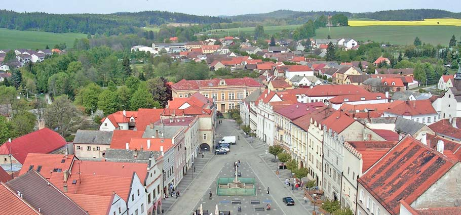 Blick über Slavonice