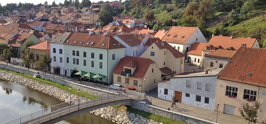 Das jüdische Viertel in Trebitsch