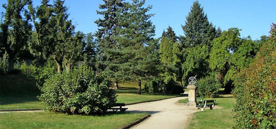 Der Park in Trebitsch